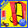 3 x AXIS INFLATABLE LIFEJACKET -RED- 150N PFD1 OFFSHORE Manual Jacket FREE POST