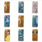 Cartoon Disney Bling Liquid Quicksand Hard Plastic Case Cover For iPhone Series