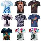 Fashion Men 3D Print Casual Popular Fashion T-Shirt Tee Shirt Round Tops US