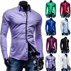 Stylish Mens Luxury Casual Stylish Long Sleeve Slim Fit Casual Dress Shirts