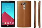 NEW LG G4 H811 32GB T-MOBILE SMARTPHONE BLUE GRAY GENUINE LEATHER BLACK & BROWN