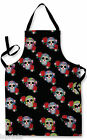 BLACK CANDY SKULL DESIGN APRON KITCHEN BBQ COOKING PAINTING GREAT GIFT IDEA