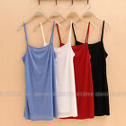 Stretchy T-shirt Women's Underslip Camisole Tank Top Vest Slip Dress Underwear