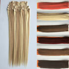 "18""-22"" 100g Clip in Hot Resistant Synthetic Hair Extensions Hairpiece 7pcs/set"