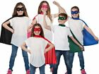 Super Hero Cape And Mask Set Girl Boy Superhero Fancy Dress Outfit