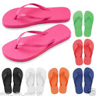 New Ladies Beach Flip Flops - Bright Summer Sandals Foam 2 SIZES SIZE 5-6 or 7-8