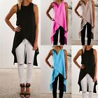 Women Sleeveless Chiffon Shirt T-shirt Blouse Vest Top Cardigan Dress Stitch TY