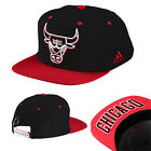 Adidas Sports Chicago Bulls NBA Basketball Snapback Cap Black Red Hat S24789 R24