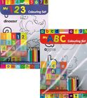 MY ABC & MY 123 COLOURING SETS - Early Learning (Children, Numbers, Alphabet)
