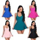 Plus Size Womens One-piece Swim Dress Swimsuit Bikini Swimwear Tankini Beachwear