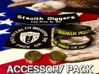 Stealth Diggers Accessory pack Wrist Band stickers and token metal detecting