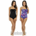 Safari/Plain Padded Underwired Swimsuit/Swimming Costume Size 10,12,14,16,18 NEW