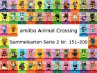 amiibo Animal Crossing Karte Nr. 151 - 200 Serie 2 Happy Home Designer, NEU