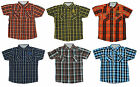 Boys Short Sleeve Checked Collared Cotton Fashion Shirt 4 to 10 Years