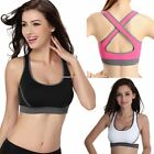 New Sexy Women Fitness Yoga Padded Sports Bra Stretch Workout Tank Top Seamless