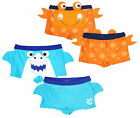 Boys Baby Toddler Novelty Shark or Crab Swim Boxer Trunks 3 Months to 5 Years
