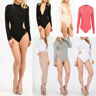 Women's Side Cut Out Party Ribbed Bodysuit Leotard Top /CUT OUT SLINKY BODYSUIT