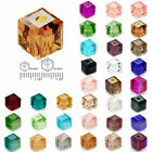 100 pcs 4mm 6mm DIY Cube Square Center Drilled Crystal Perles de bijoux
