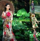 Hot Sale Ethnic Classical Long Dress Casual Womens Flower Cotton Blend Dress New