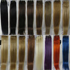 "More Colors New AAA 28"" Remy Human Hair Weft Extensions Straight 100g Width 59"""
