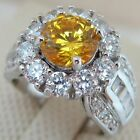 Size 7 8 Great Gallant Yellow Round Topaz Jewelry Gold Filled Woman Ring A223