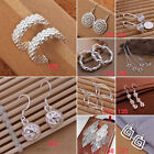Fashion Women Jewelry Lady Silver Plated Elegant Ear Stud Hoop Dangle Earrings