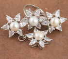 18K Gold Filled White Pearl Last One Fashion Jewelry Sets Earrings Ring B8850
