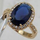 Size 5 9 Awesome Gorgeous Sapphire Blue Jewelry Yellow Gold Filled Ring R2441