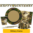 MILITARY CAMO Party Tableware & Decorations (Birthday/Napkins/Plates/Army)