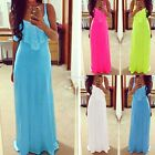 Hot sale Fashion Women Strap V-Neck Sleeveless Summer Beach Maxi Long Dress N24H