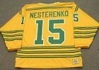 ERIC NESTERENKO Chicago Cougars 1974 WHA Vintage Throwback Hockey Jersey