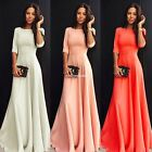 Women Summer Boho Long Sleeve Chiffon Lace Party Evening Mini Dress Sundress EN2
