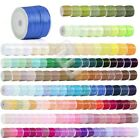 "1/8"" 3mm 50 Yards Satin Ribbon Sewing Hair Bows Wedding Party Decor Lots RN0001"