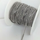 20/50 Meters Tiny Solid Flat Curb Link Stainless Steel Chain Welded