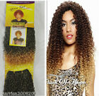 2 Tone Colour Curl Water Wave Synthetic Hair Extensions Weaving Weft 8 Inch