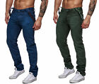 HERREN CHINO COLOURED JEANS FIT HOSE CLUBWEAR VINTAGE