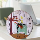 Vintage Wooden Round Wall Clock 3D Large Shabby Chic Rustic Kitchen Home Antique