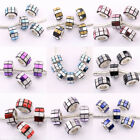 New 5/20X Alloy  Acrylic Columnar Loose Spacer Beads Necklace Jewelry DIY 13*8MM