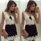 Beautiful In Colour Sleeveless Lace Casual Evening Party Cocktail Dress Nice
