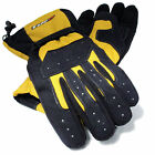 Tuzo Tracker Waterproof All Season Motorcycle Scooter Gloves Black/yellow