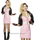 8-18 Sexy Rocker Diva Costume 80s Pop Star Madonna Ladies Fancy Dress Outfit