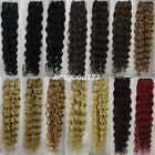 "Hot Sell AAA+ Remy Curly Deep 18""~26"" Weft Human Hair Extensions Weave 100g"