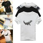 New Korean Fashion Mens Summer Top Short Sleeve Boy Round Neck T-shirt M L XL TY