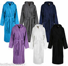 Ladies Mens Womens 100% Cotton Hooded Bath Robe Terry Toweling Dressing Gown