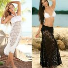 Summer Beach Women Crochet Bikini Cover Up Swimwear Lace Skirt Sexy Dress - LD