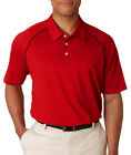 adidas Men's ClimaLite Piped Polo Solid Golf Shirt A82