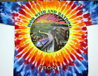 """BOB WEIR & RATDOG """"ROAD TO THE CITY"""" 2-SIDED TIE DYE T-SHIRT NW GRATEFUL DEAD"""