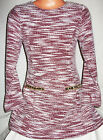 GIRLS CLASSIC BURGUNDY & WHITE MARBLE PRINT GOLD TRIM FLARED PARTY DRESS