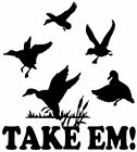 Ducks Decal Take Em, MD Waterfowl Bird Hunting Vinyl Window and Truck Stickers