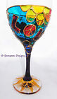 Psychedelic Hippy Wine Goblets Glasses Festival Boho Gift Unique Handpainted